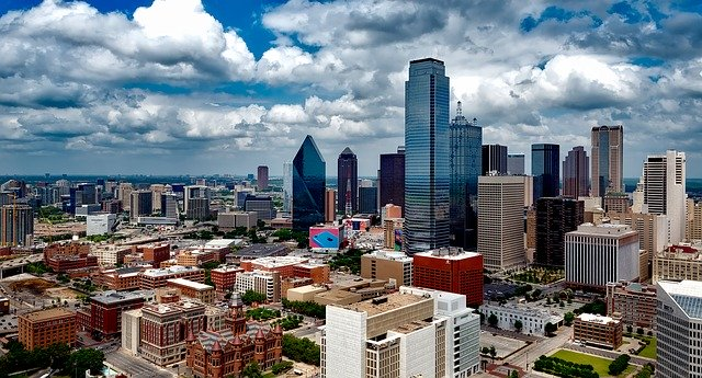 dallas texas skyline. biggest cities in us.