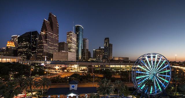 houston texas skyline. biggest cities in us.
