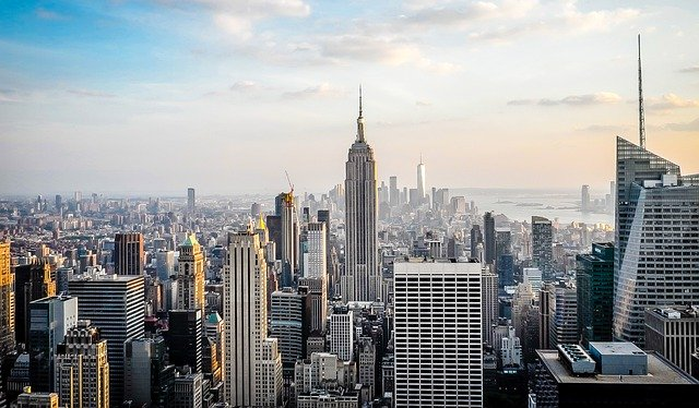 new york skyline. biggest cities in us.