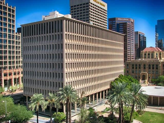 Phoenix arizona skyline. biggest cities in us.