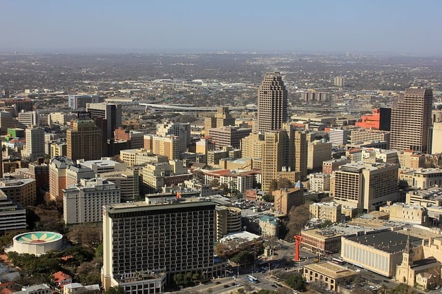 san antonio texas skyline. largest cities in us.
